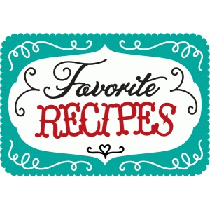 favorite recipes word art