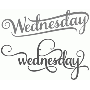 weekdays - wednesday