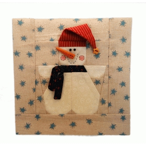 snow buddy print & cut paper foundation quilt block