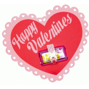 simple valentine candy card