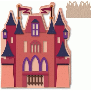 castle shaped side fold card 5x7