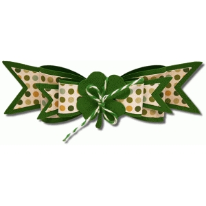 3d double layered clover bow