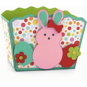 3d easter treat box with bunny & eggs