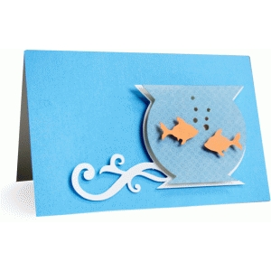goldfish card - 4x6