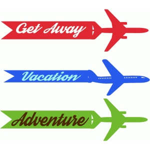 airplane vacation tags