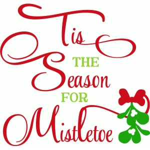 tis the season for mistletoe