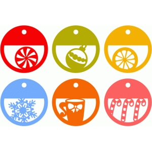 winter circle tags