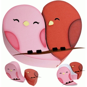 love bird heart box
