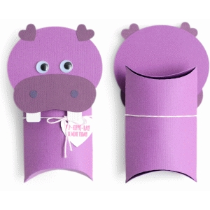 hippo pillow box valentine