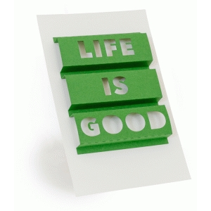 3d word art- life is good