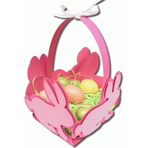3d large bunny basket