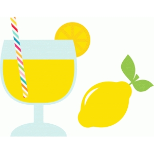 lemonade and lemon icons