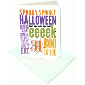 halloween sampler colorful a2 card