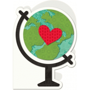 a2 shaped card globe