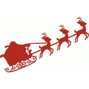 santa claus flying sleigh