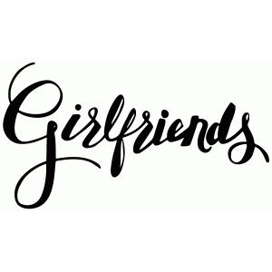 girlfriends lettering