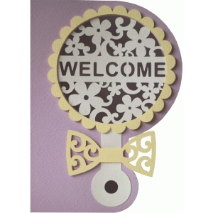 5x7 welcome baby rattle layer card