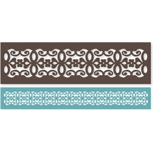 elegant ribbon border