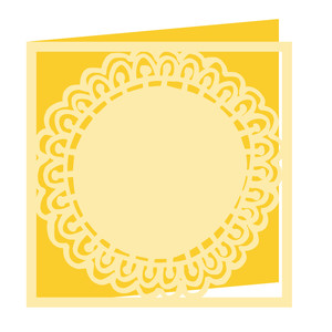 flower doily card