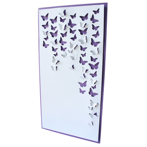 butterfly waterfall card