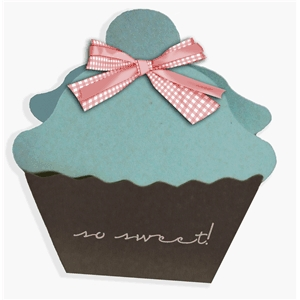 3d cupcake favor box - cherry on top
