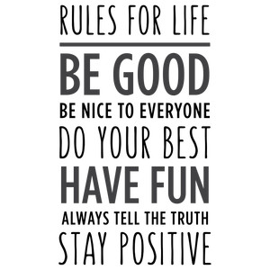 rules for life phrase