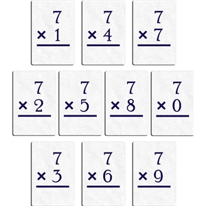 flashcard - multiply 7
