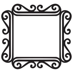 Silhouette Design Store - View Design #180091: fancy ...Fancy Square Frame