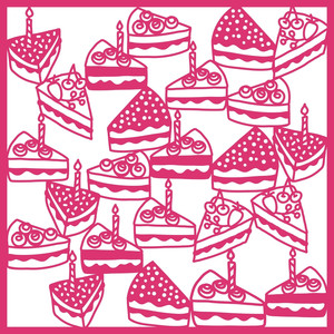 slices of cake background