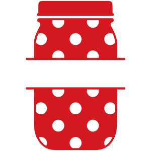 mason jar dot split label