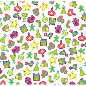 holiday scatter pattern small