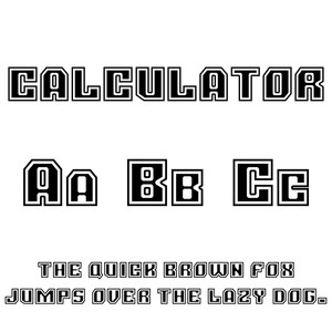 cg calculator font