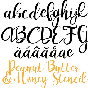 pn peanut butter & honey stencil