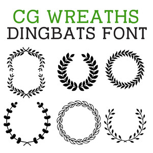 cg wreath dingbats