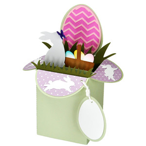 easter bunny card in a box