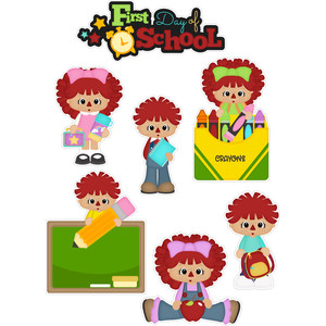 school raggedy ann and andy stickers