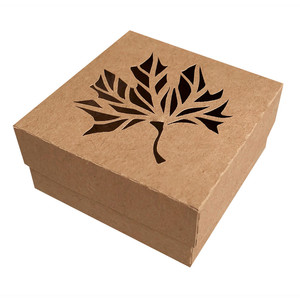 autumn box with leaf