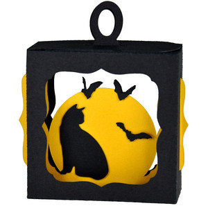 kitty & bats hanging ornament box