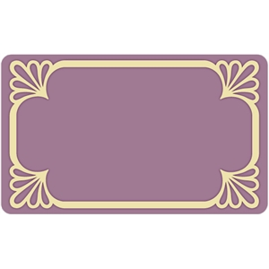 flourish border card