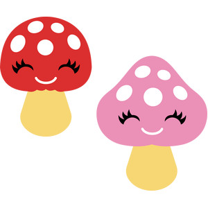 cute mushrooms