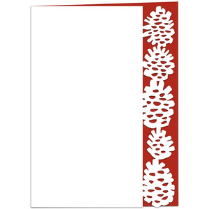 pine cone lace edged card
