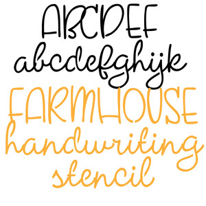 pn farmhouse handwriting stencil