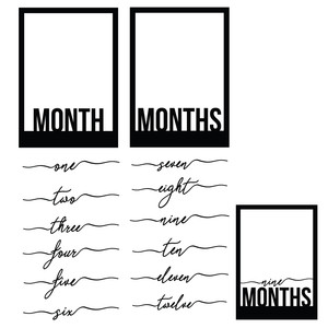 baby month frames set