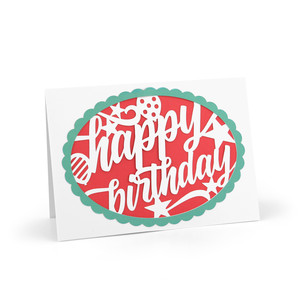 intricate cut card happy birthday