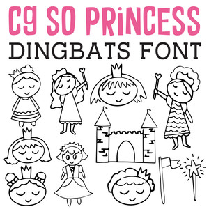 cg so princess dingbats