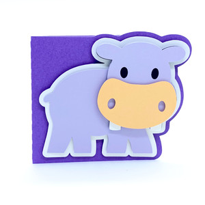 baby hippo card