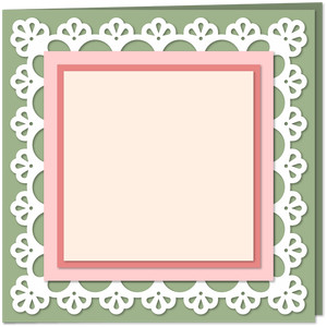 lace edge 6x6 card