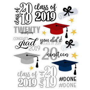 graduation 2019 sticker