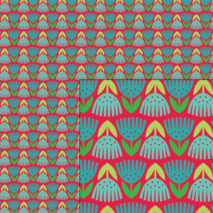 nordic holiday festive tulips pattern