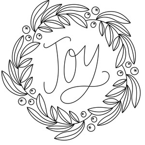 joy wreath sketch